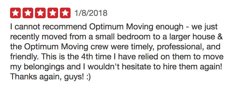 Optimum Moving 5-Star Review