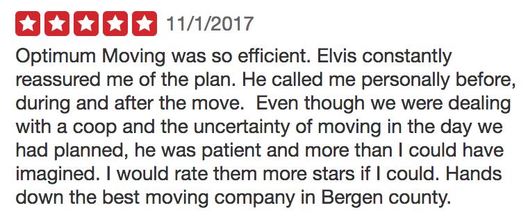 Screenshot 2Optimum Moving 5-Star Review