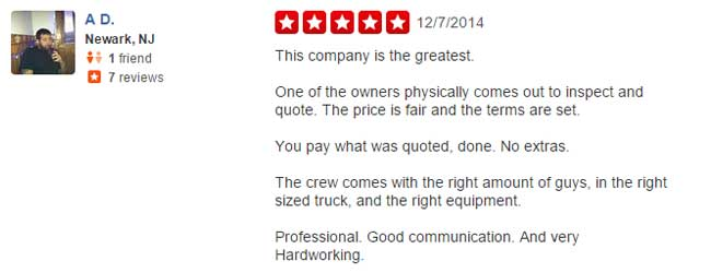 A.D. yelp review